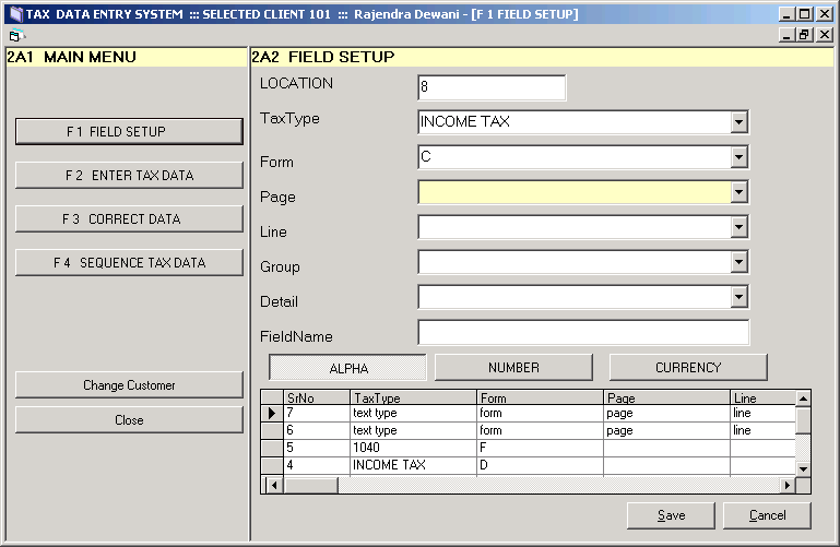 Project_Maintenance Programmer_TAX DATA ENTRY SYSTEM
